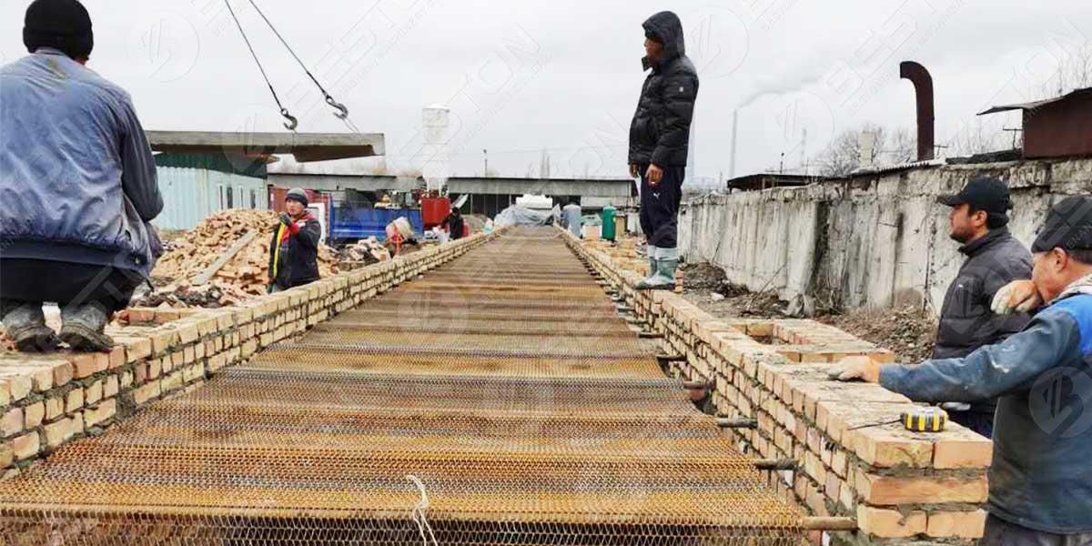 Construir linha de secagem de tijolos BTF5-8 no Quirguistão