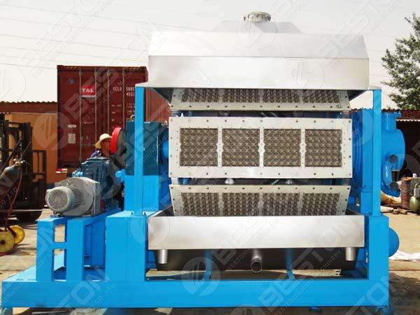 BTF4-8 Máquina para fabricar bandejas de huevos en Pakistán