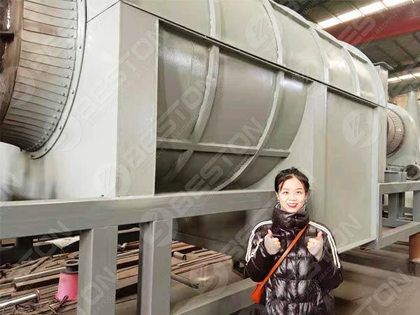 Угольная машина для рисовой оболочки в Бразилию