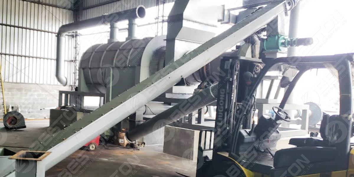 Угольная машина для рисовой шелухи в Бразилии