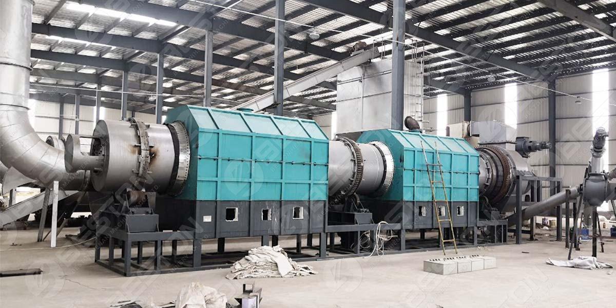 Máquina de carbón de aserrín
