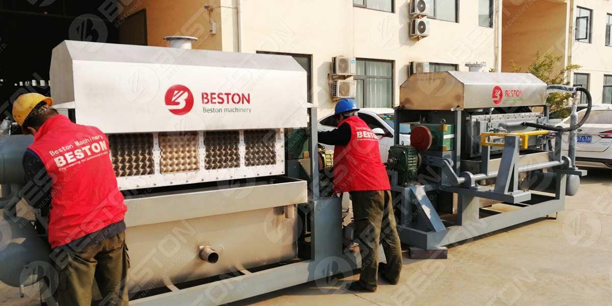 مجموعتان من آلات صينية البيض BTF4-4 إلى الهند