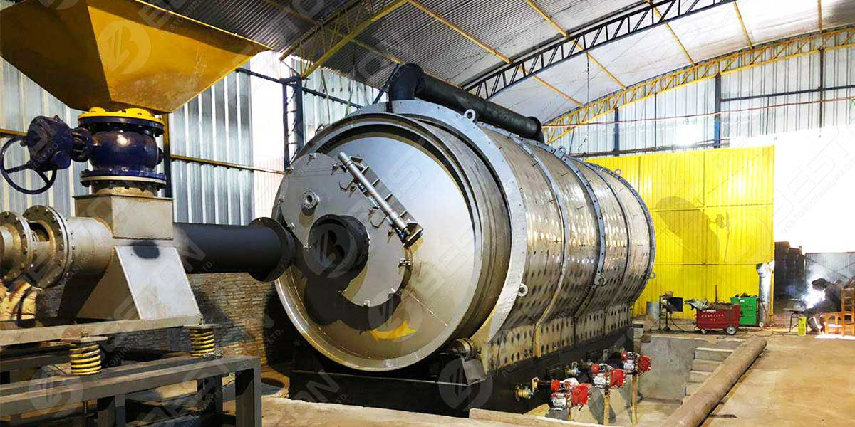 BLJ-16 Tyre Pyrolysis Plant In Paraguay