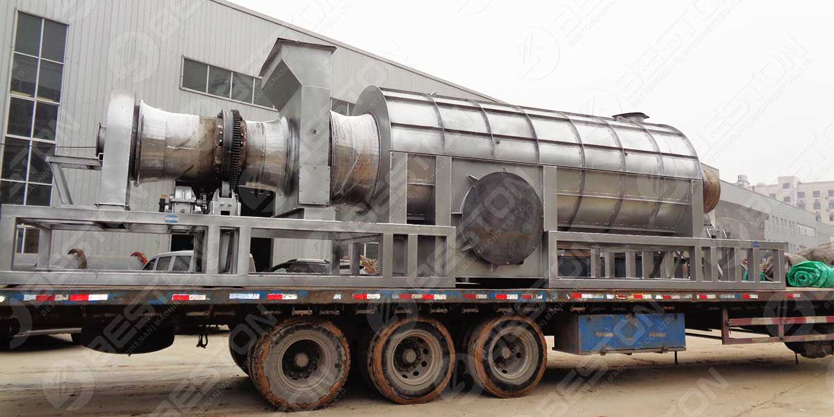 BST-10 Palm Kernel Charcoal Machine to Ghana
