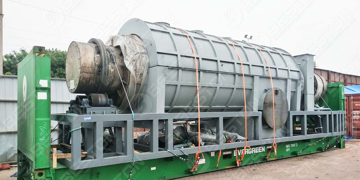 BST-30 Palm Kernel Shell Charcoal Machine to Malaysia