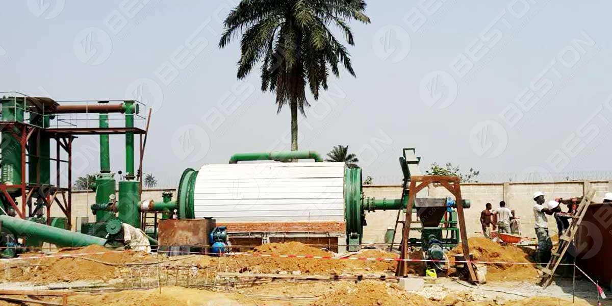 Монтаж установки пиролиза нефтешламов
