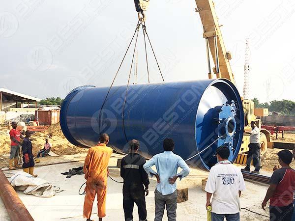 Установка пиролизной машины для нефтешлама