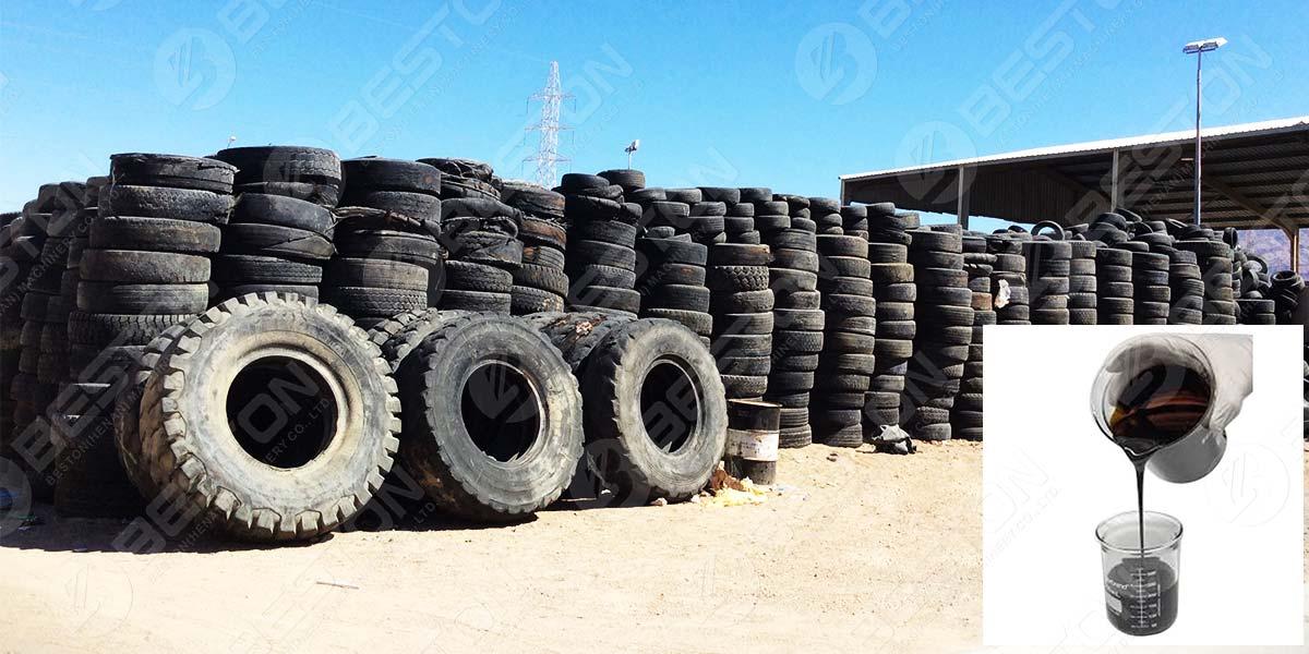 Recicle los neumáticos en aceite combustible