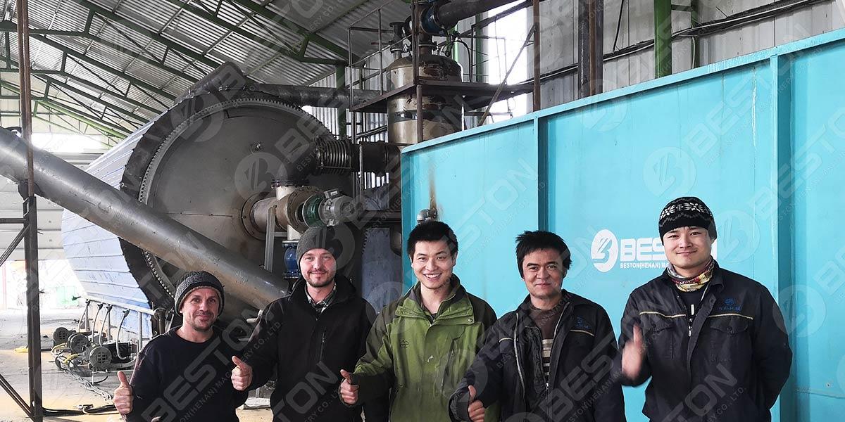 Máquina de aceite para neumáticos en Rumania