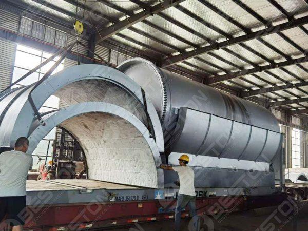 Máquina de fazer carvão BST-J40 para a Espanha