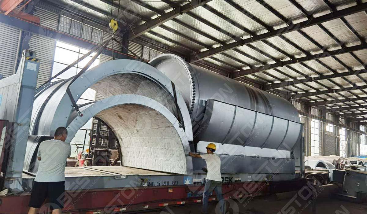 BST-J40 Charcoal Making Machine to Spain