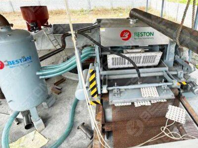 Mesin Pembuat Baki Telur 2000pcs Dipasang Di India