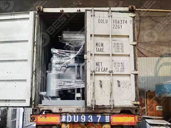 BTT1-4 in the Container to America