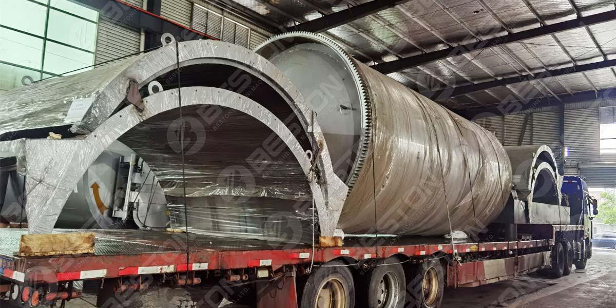 La planta de pirólisis de neumáticos BLJ-12 se envía a Nigeria