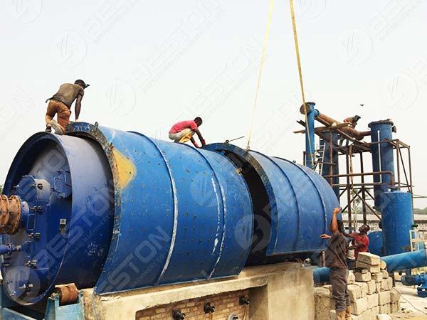 Máquina de pirólisis en Nigeria
