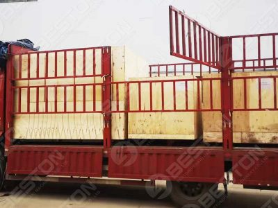 BTF1-4 Egg Tray Machine Shipped to Peru