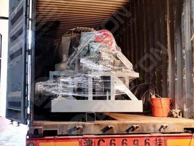 BTF4-4 Coffee Cup Tray Making Machine to Columbia
