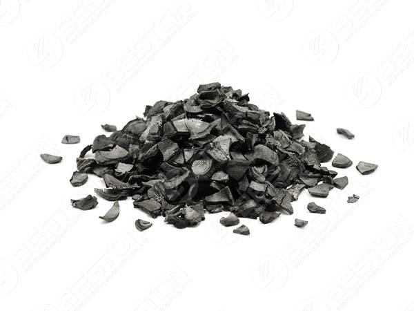 Carvão de casca de coco